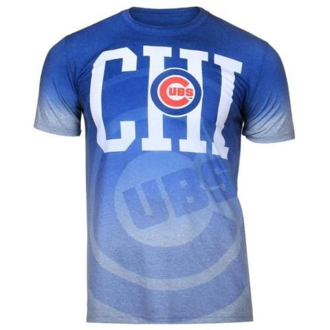 Chicago Cubs Official MLB Gradient Tee By Klew