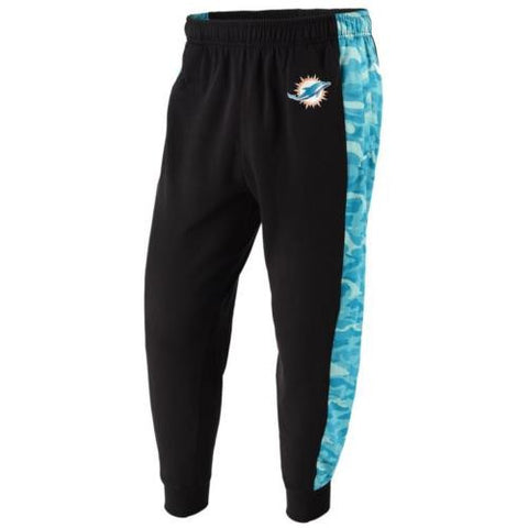Miami Dolphins NFL Mens Printed Poly Insert Camo Stripe Jogger Pants