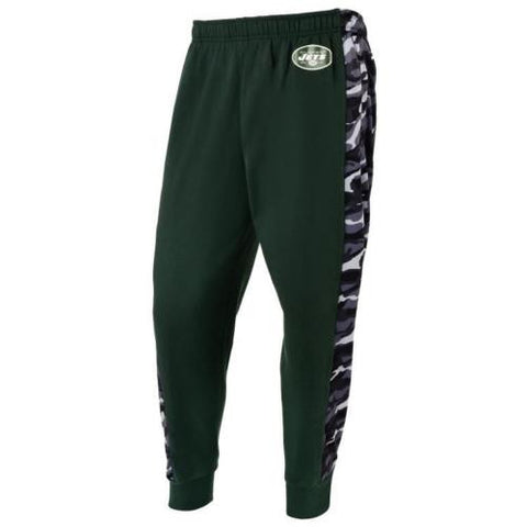 New York Jets NFL Mens Printed Poly Insert Camo Stripe Jogger Pants