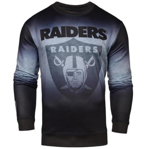 Oakland Raiders NFL Printed Gradient Crew Neck Sweater
