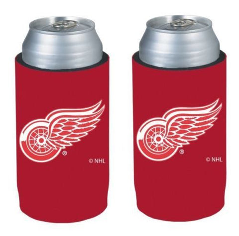 Detroit Red Wings NHL Ultra Slim Can Drink Beer Holder Cooler 2-Pack