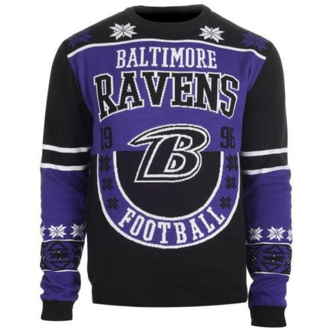 Baltimore Ravens Official NFL Warm Winter Cotton Retro Sweater