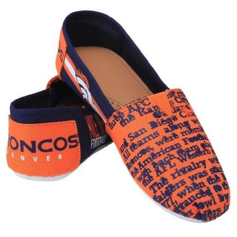 Denver Broncos Official NFL Thematic Canvas Shoes