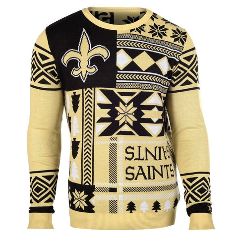 "New Orleans Saints Official Men's NFL ""ugly Sweater"" By Klew"