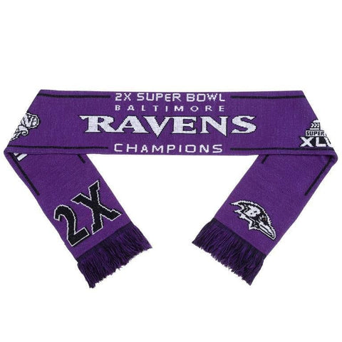 Baltimore Ravens NFL Super Bowl Commemorative Warm Acrylic Scarf
