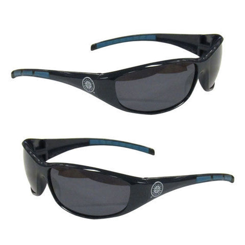 Seattle Mariners Men's Official MLB 3 Dot Sports Wrap Sunglasses