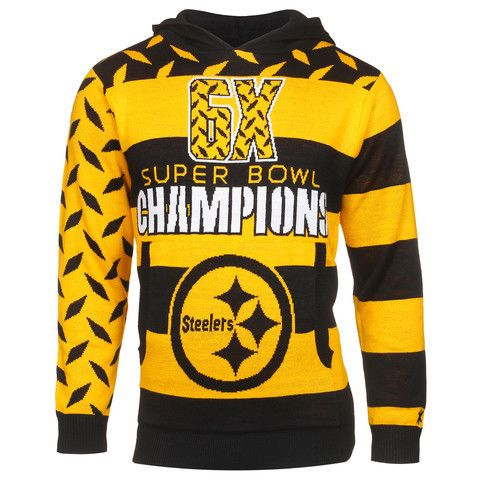 Pittsburgh Steelers Official NFL Super Bowl Commemorative Acrylic Hoody