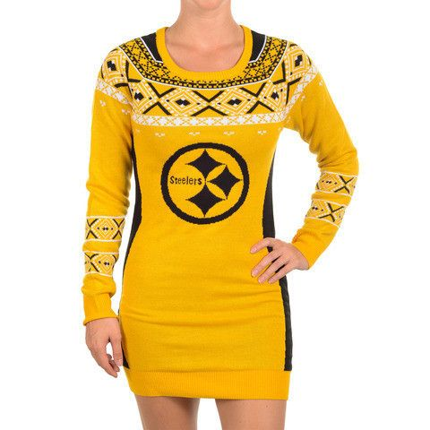 Pittsburgh Steelers Official NFL Sweater Dress by Klew