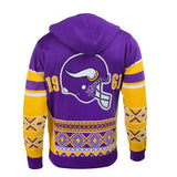 "Minnesota Vikings Official NFL ""big Logo"" Hooded Sweatshirt By Klew"