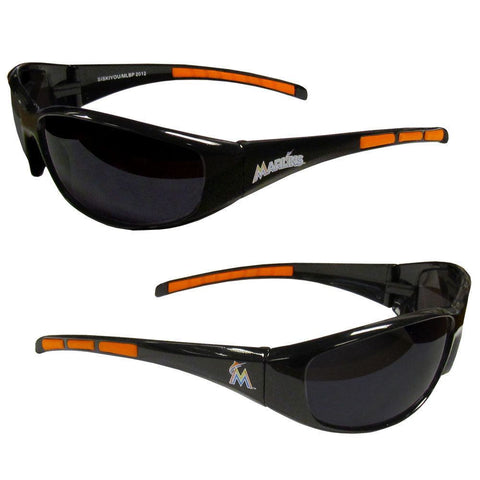 Miami Marlins Men's Official MLB 3 Dot Sports Wrap Sunglasses