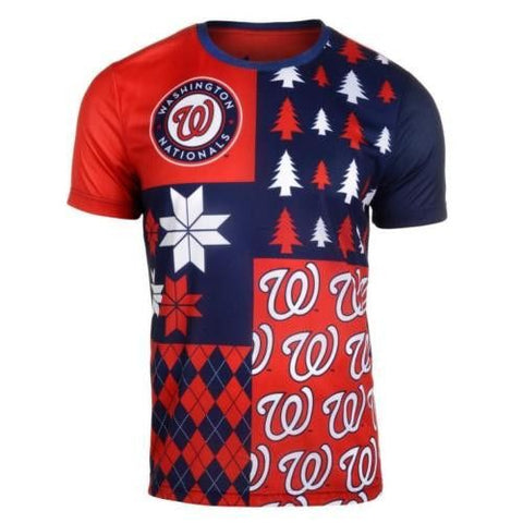 Washington Nationals MLB Baseball  Busy Block Ugly Tee T-Shirt