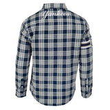 New York Yankees Wordmark Long Sleeve MLB Flannel Shirt by Klew