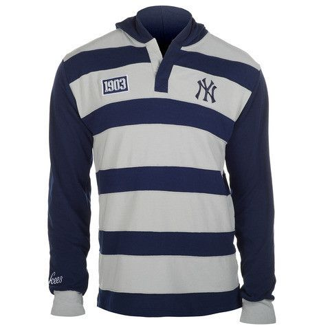 New York Yankees Official MLB Cotton Rugby Hoody by Klew