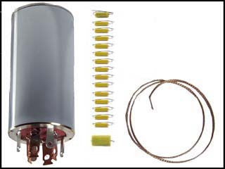 Hallicrafters S-107 Mk. I Can Capacitor and Re-Cap Kit