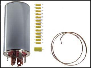 Hallicrafters S-107 Mk. II Can Capacitor and Re-Cap Kit