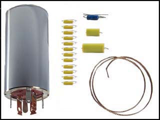 Hallicrafters S-108 Can Capacitor and Re-Cap Kit