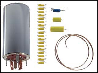 Hallicrafters S-85 Can Capacitors and Re-Cap Kit