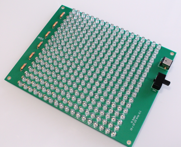 Large blue LED board