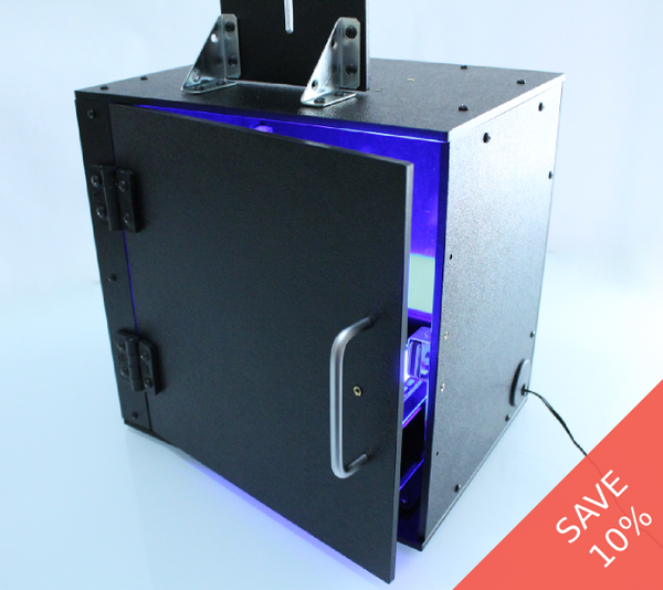 Imaging enclosure & large blue LED transilluminator bundle