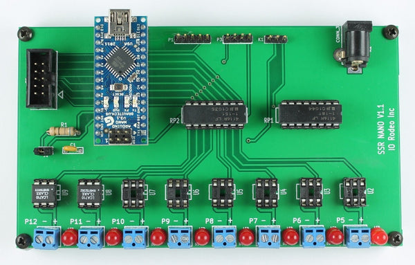 Solid state relay expansion board for Arduino Nano - AC/DC