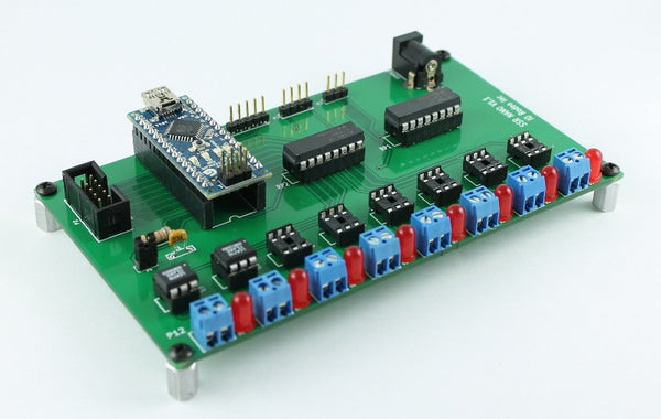 Solid state relay expansion board for Arduino Nano - DC configuration