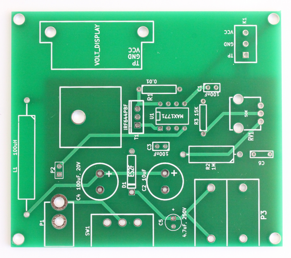 PCB - Electrophoresis power supply with LCD display
