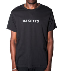 Maketto Black Tee