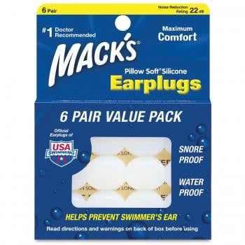 Soft Silicone Ear Plugs (6 Pair)