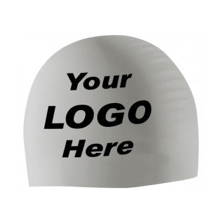 Custom Latex Swim Cap - 3 Color - Quantity 100-249 - Alpha Aquatics & Performance