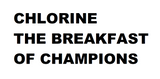 Chlorine Breakfast of Champs Crew Tee - Alpha Aquatics & Performance