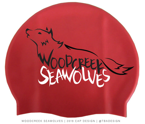 Silicone Swim Cap (Woodcreek Seawolves) - Alpha Aquatics & Performance