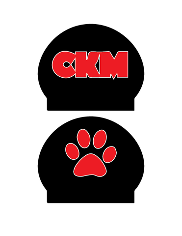 (2) PERSONALIZED Silicone Swim Caps (CKM) - Alpha Aquatics & Performance