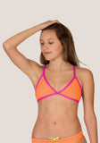 Tieback TOP - Mandarin & Watermelon - Alpha Aquatics & Performance