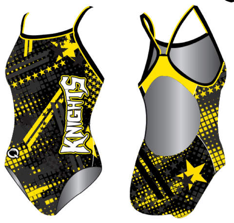 Custom Team Suit - Skinny Strap (Rio Linda) - Alpha Aquatics & Performance