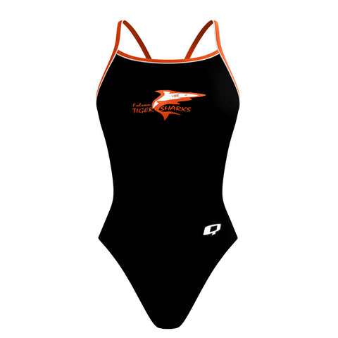 Custom Team Suit - Sunback Tank (Folsom Tigersharks) - Alpha Aquatics & Performance