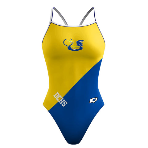 Custom Team Suit - Skinny Strap (Del Campo) - Alpha Aquatics & Performance