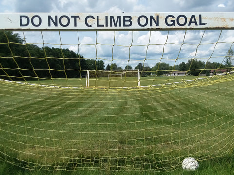Soccer Goal Safety, Do Not Climb On Goal, Soccer Goal Tip