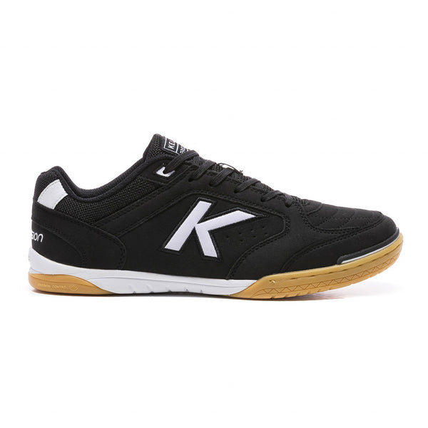 Kelme Precision Futsal Shoes - Black/White-Soccer Command