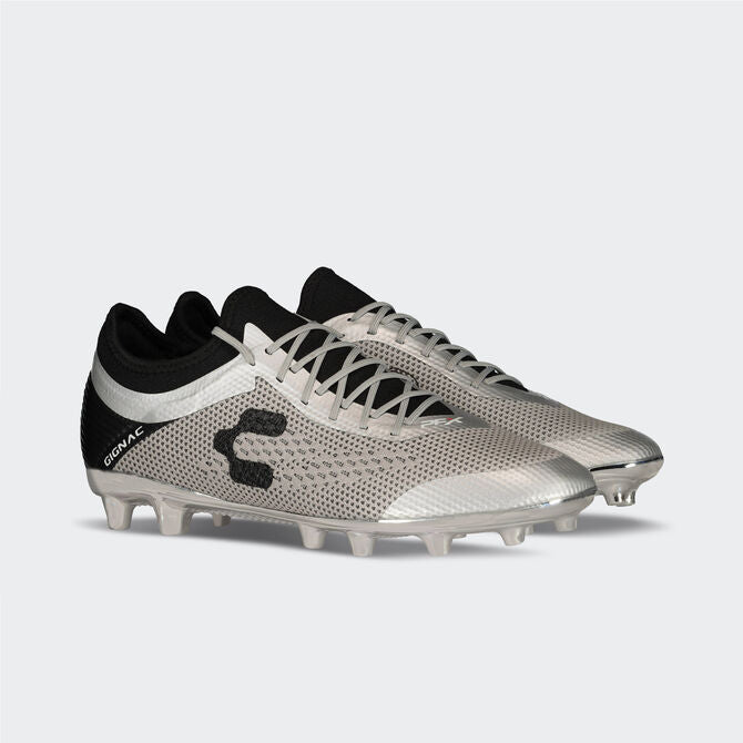 Charly PFX Gignac FG Soccer Cleats - Silver/Black-Soccer Command