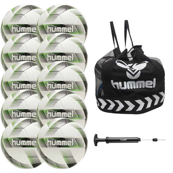 hummel Futsal Storm Ball 10-Pack with Core Ball Bag and Ball Pump-Soccer Command