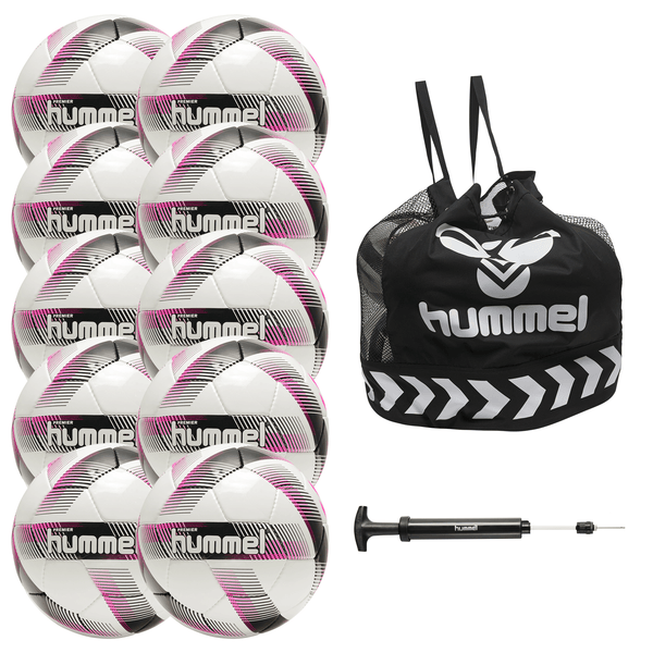 hummel Premier Soccer Ball 10-Pack with Core Ball Bag and Ball Pump-Equipment-Soccer Source