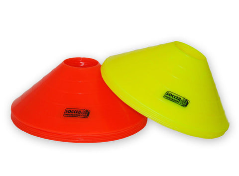 "12"" Double-Thick Large Disc Cone Set by Soccer Innovations - Soccer Source - Your Source for Quality Soccer Equipment"