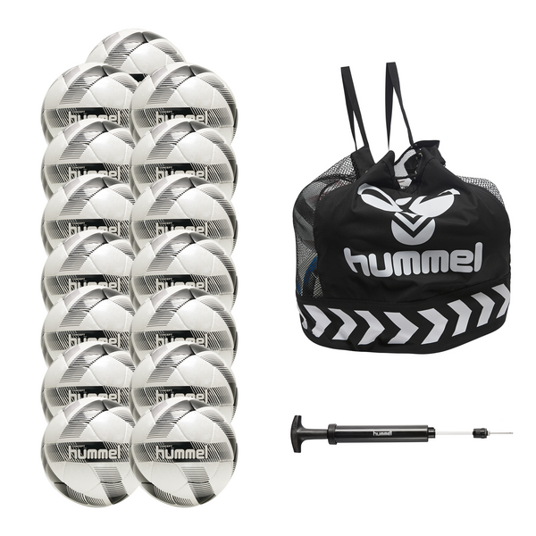 hummel Concept Pro Soccer Ball 15-Pack with Core Ball Bag and Ball Pump-Soccer Command