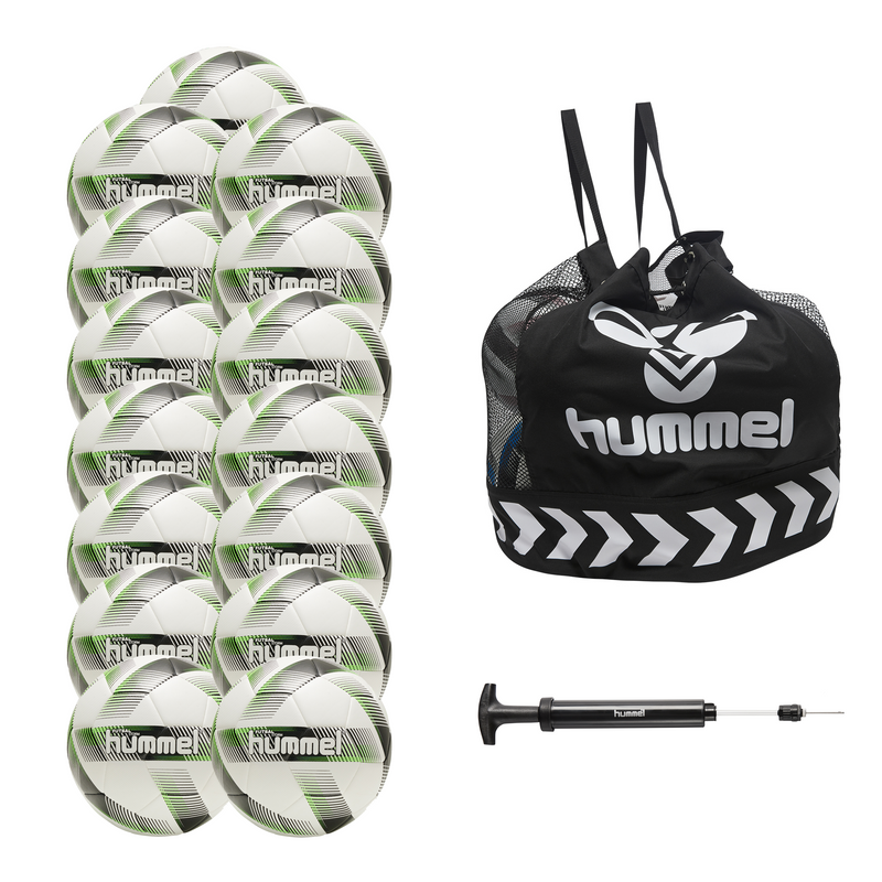 hummel Futsal Storm Ball 15-Pack with Core Ball Bag and Ball Pump-Soccer Command
