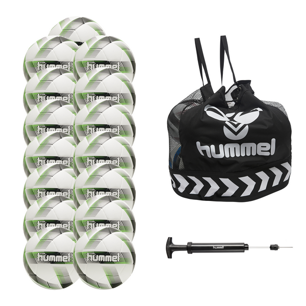 hummel Storm 2.0 Soccer Ball 15-Pack with Core Ball Bag and Ball Pump-Soccer Command