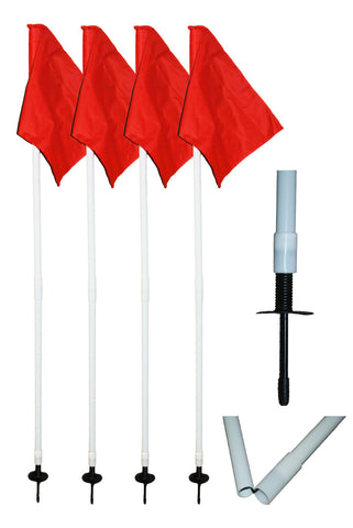 "1"" Collapsible Corner Flag Set by Soccer Innovations-Coach Accessories-Soccer Source"