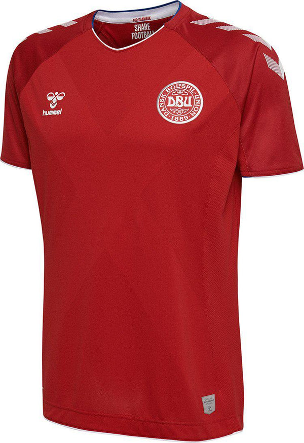 18/19 Denmark Home Jersey (hummel short sleeve)-Apparel-Soccer Source