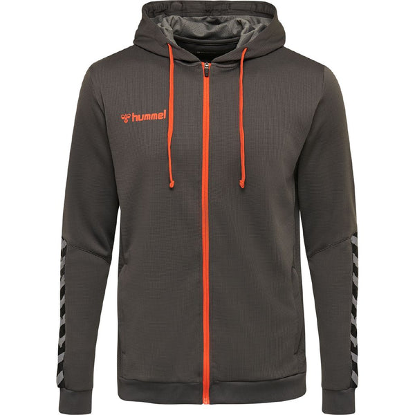 hummel hmlAuthentic Poly Zip Hoodie-Apparel-Soccer Source