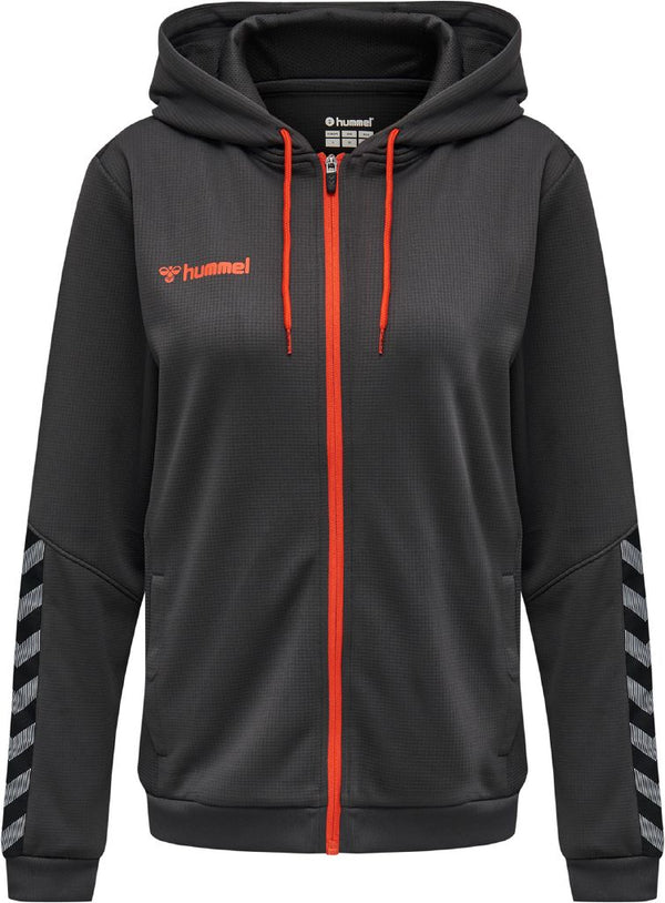 hummel hmlAuthentic Poly Zip Hoodie (women's)-Apparel-Soccer Source