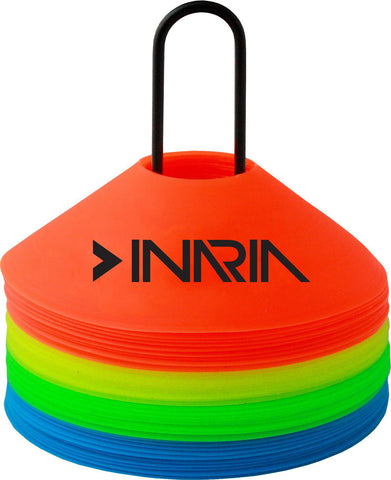 INARIA 40 Disc Cone Set with Wire Carrier-Training Equipment-Soccer Source